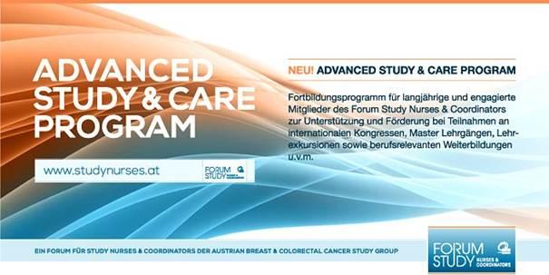 ADVANCED STUDY & CARE PROGRAM: Wir vergeben Förderungen für Fortbildung im Saalfelden 2017